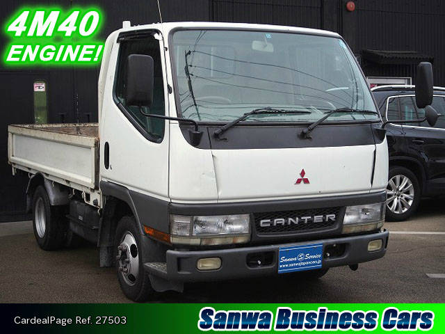 1999 Used MITSUBISHI CANTER KG-FB51AA Engine Type 4M40 Ref No:27503