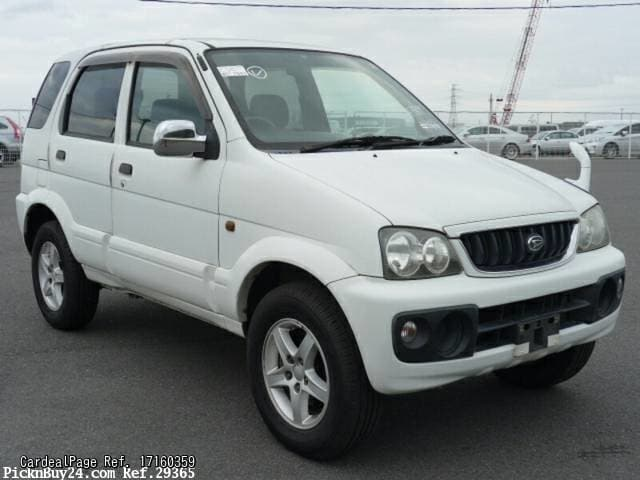 2001/Jul Used DAIHATSU TERIOS GF-J102G Engine Type K3 Ref No:160359 - Japanese Used Cars for ...
