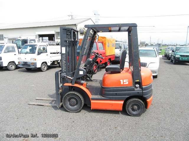 Used TOYOTA FORKLIFT 6FGL15 Ref No:18200028 - Japanese Used