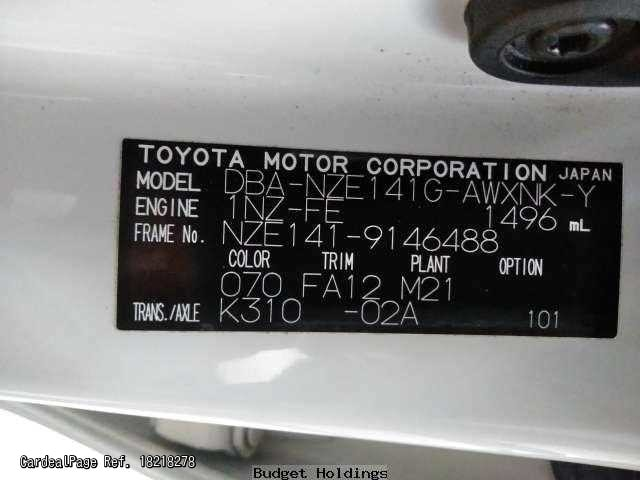 2010/May Used TOYOTA COROLLA FIELDER DBA-NZE141G Ref No